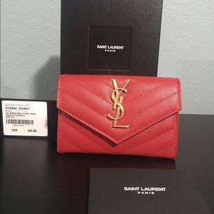 YSL Red Envelope Wallet. Gently worn.